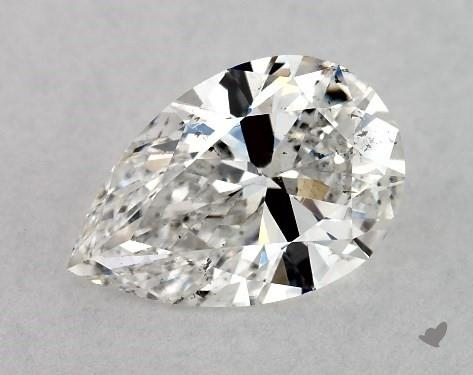 1.02 Carat F-SI1 Pear Shape Diamond