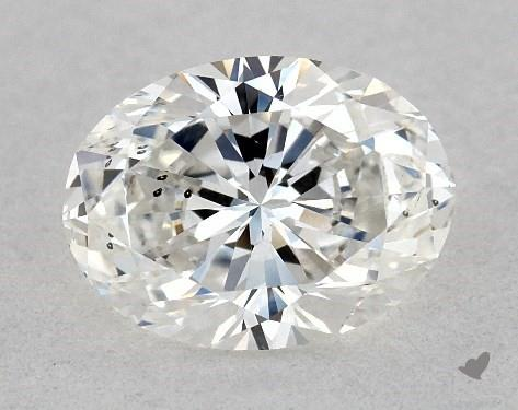 1.00 Carat G-SI1 Oval Cut Diamond