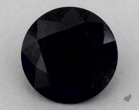2.52 Carat FANCY  Black Round Cut Diamond