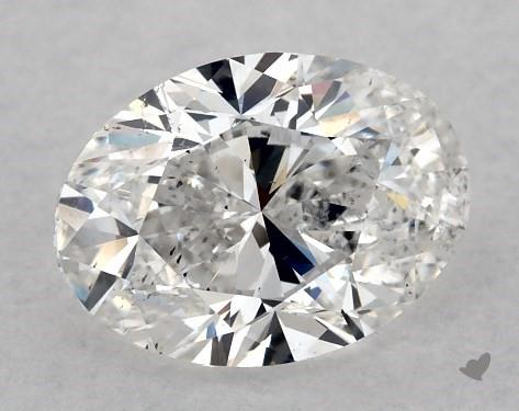 1.00 Carat E-SI1 Oval Cut Diamond
