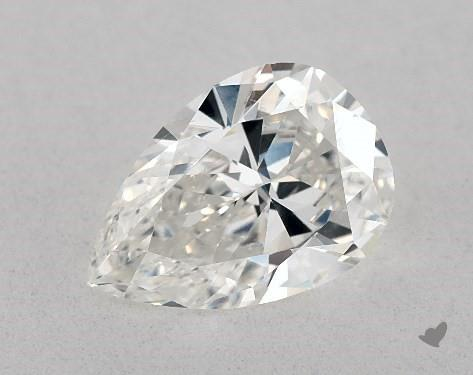 1.08 Carat H-SI1 Pear Shape Diamond