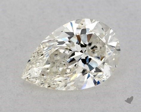 <b>0.50</b> Carat J-SI1 Pear Cut Diamond