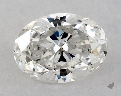 <b>0.51</b> Carat F-SI2 Oval Cut Diamond
