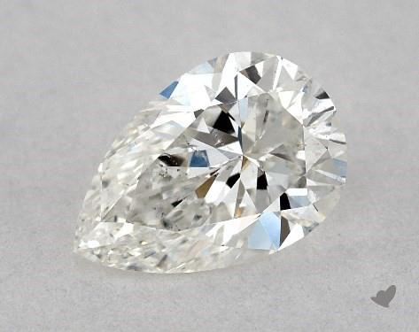 0.53 Carat G-SI2 Pear Shape Diamond