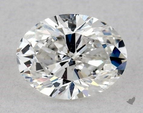 0.46 Carat F-I1 Oval Cut Diamond