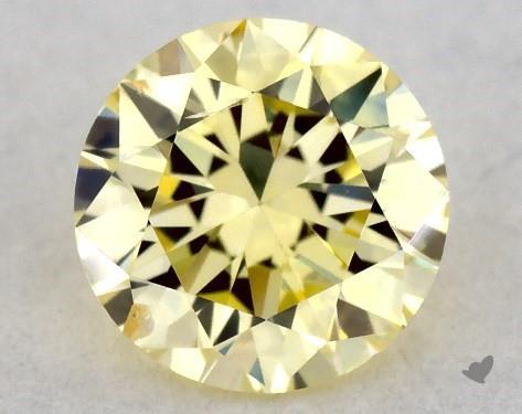 0.37 Carat FANCY  YELLOW-SI2 Round Cut Diamond