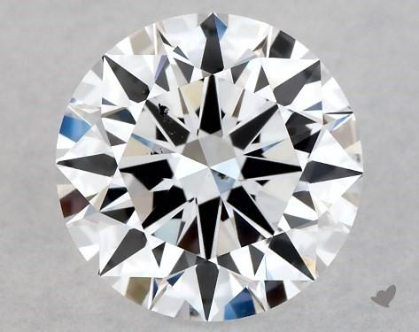 Lab-Created 1.00 Carat F-SI1 Excellent Cut Round Diamond