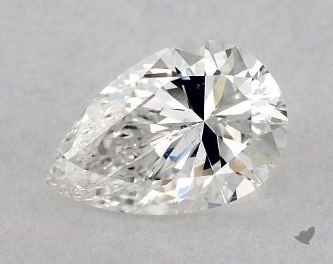 1.00 Carat G-SI1 Pear Shape Diamond