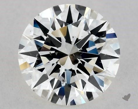 1.02 Carat H-SI1 Excellent Cut Round Diamond