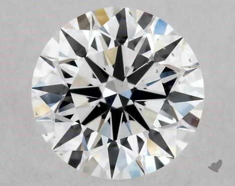 Lab-Created 0.52 Carat F-SI1 Ideal Cut Round Diamond