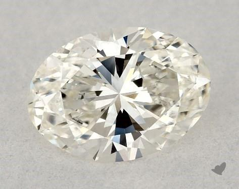 0.50 Carat I-SI1 Oval Cut Diamond
