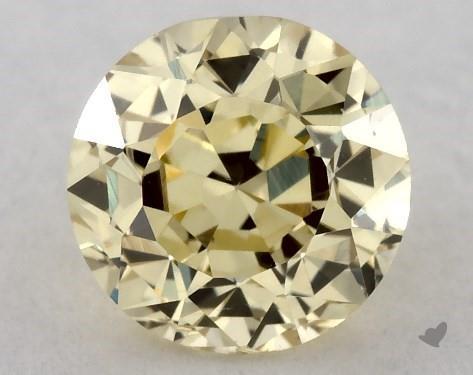 0.52 Carat FANCY  YELLOW-VS2 Round Cut Diamond