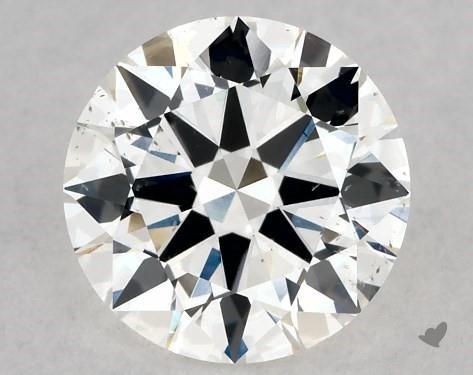 1.02 Carat F-SI1 Excellent Cut Round Diamond