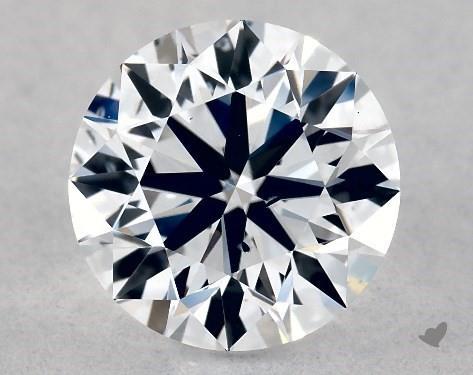 Lab-Created 1.02 Carat G-SI1 Ideal Cut Round Diamond