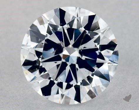 Lab-Created 1.03 Carat G-SI1 Excellent Cut Round Diamond