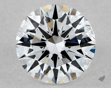 Lab-Created 1.12 Carat G-SI1 Excellent Cut Round Diamond
