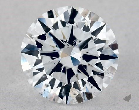 Lab-Created 1.01 Carat G-SI1 Excellent Cut Round Diamond