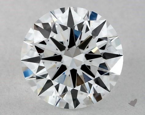 Lab-Created 1.01 Carat G-VS2 Ideal Cut Round Diamond