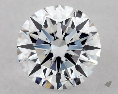 Lab-Created 1.02 Carat G-SI1 Ideal Cut Round Diamond