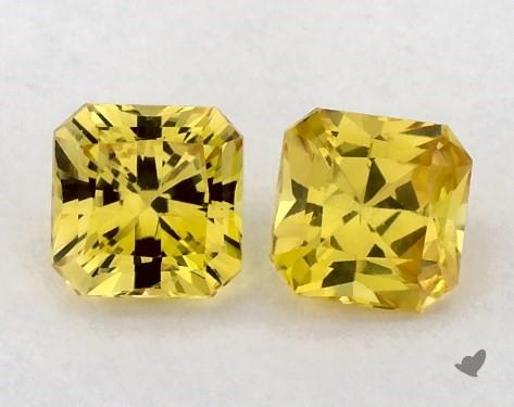 0.87 Total Carat Weight Radiant Natural Yellow Sapphires