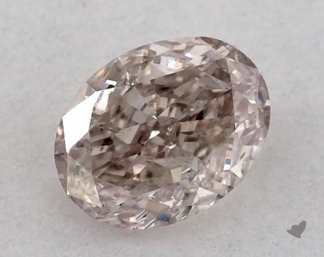 0.50 Carat FANCY BROWNISH PINK-I1 Oval Cut Diamond