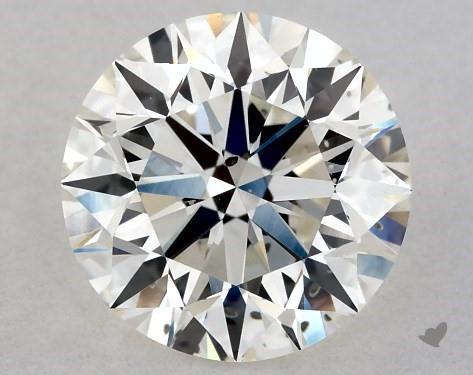 1.05 Carat H-SI1 Excellent Cut Round Diamond