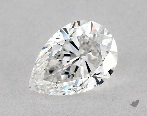 1.00 Carat E-SI1 Pear Shape Diamond