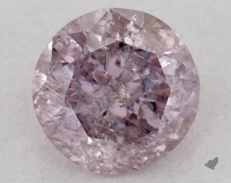 0.27 Carat FANCY PURPLE PINK Round Cut Diamond