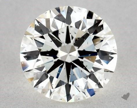 1.04 Carat H-SI1 Excellent Cut Round Diamond