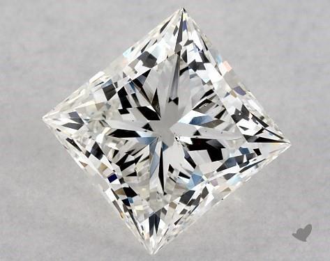 1.01 Carat H-SI1 Ideal Cut Princess Diamond