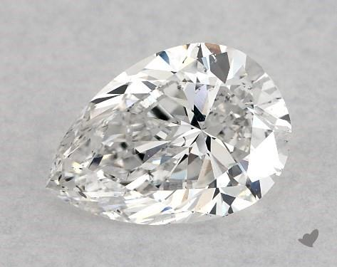 1.00 Carat D-SI1 Pear Shape Diamond