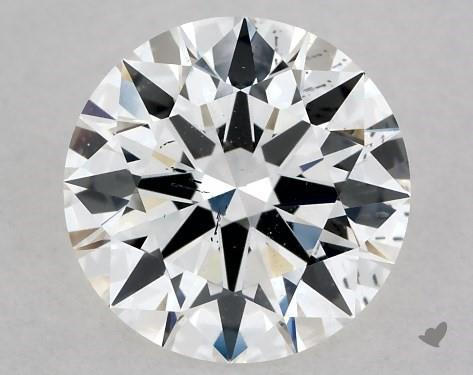 Lab-Created 1.06 Carat G-SI1 Ideal Cut Round Diamond