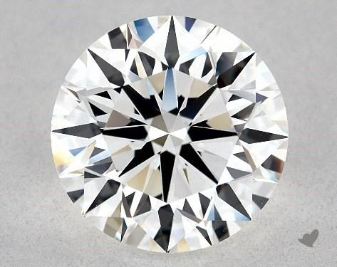 2.33 Carat H-VVS1 Excellent Cut Round Diamond