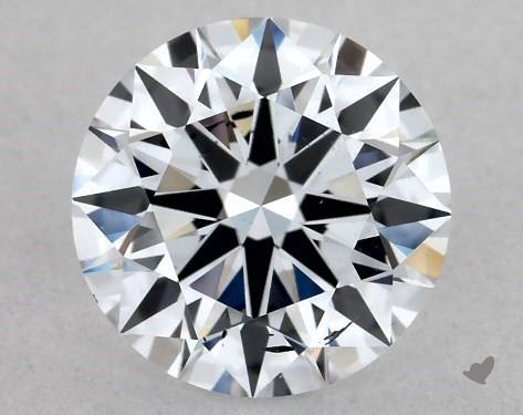 Lab-Created 1.03 Carat H-SI1 Ideal Cut Round Diamond