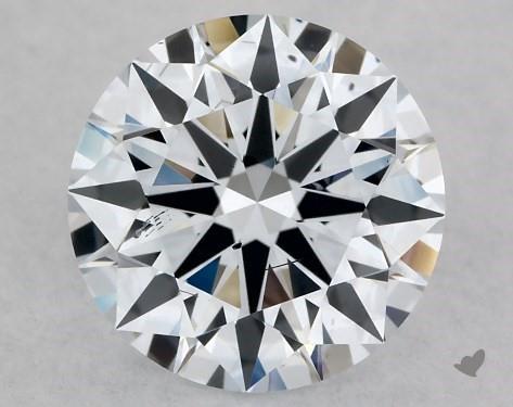 Lab-Created 1.00 Carat H-SI1 Ideal Cut Round Diamond
