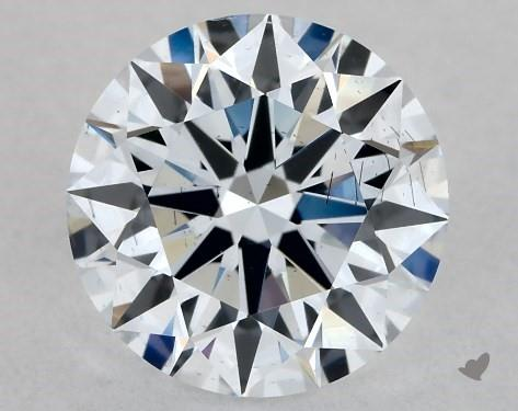 Lab-Created 1.02 Carat H-SI1 Ideal Cut Round Diamond