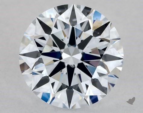 Lab-Created 1.04 Carat H-SI1 Ideal Cut Round Diamond