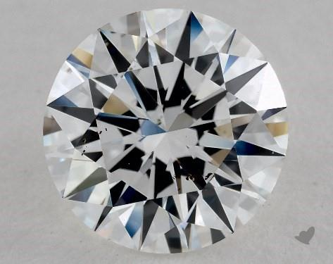 2.02 Carat E-SI1 Excellent Cut Round Diamond