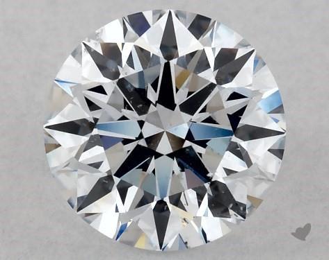 Lab-Created 1.11 Carat H-SI1 Ideal Cut Round Diamond