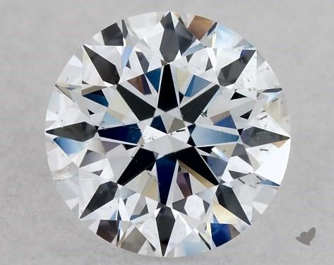 Lab-Created 1.01 Carat G-SI1 Ideal Cut Round Diamond
