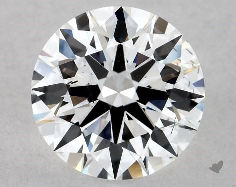 Lab-Created 1.02 Carat F-SI1 Ideal Cut Round Diamond