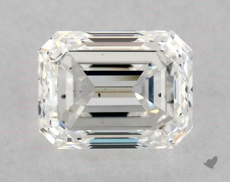 1.00 Carat F-SI1 Emerald Cut Diamond