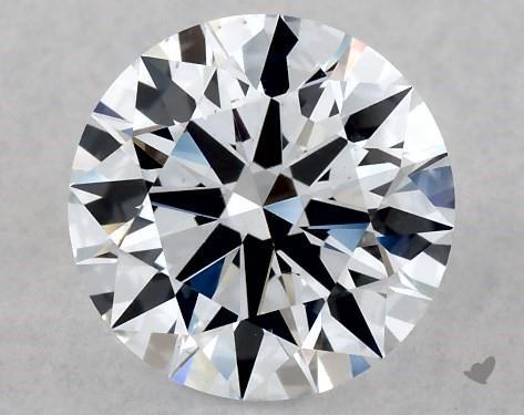 Lab-Created 1.04 Carat G-SI1 Ideal Cut Round Diamond