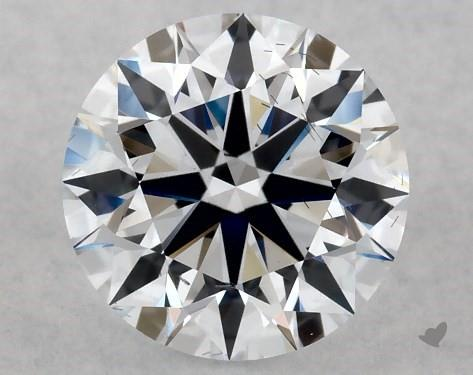 Lab-Created 1.08 Carat G-SI1 Ideal Cut Round Diamond