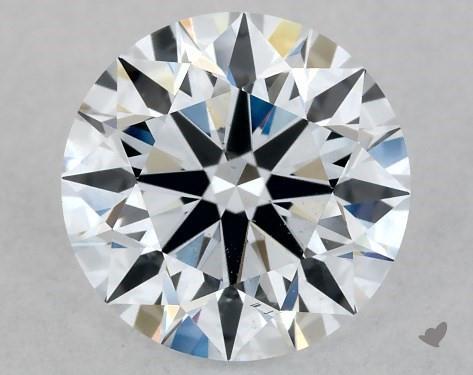 Lab-Created 1.08 Carat G-SI1 Ideal Cut Round Diamond