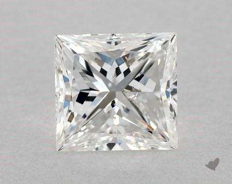 1.00 Carat F-SI1 Ideal Cut Princess Diamond
