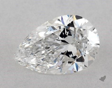 1.00 Carat E-SI1 Pear Shape Diamond