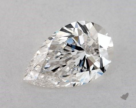 1.00 Carat H-SI1 Pear Shape Diamond