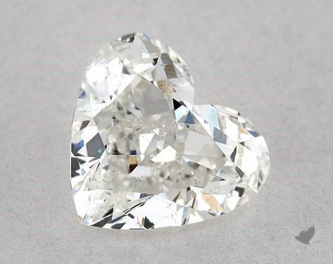 1.00 Carat H-SI1 Heart Shape Diamond