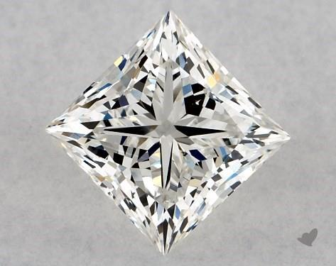 1.00 Carat H-SI1 Ideal Cut Princess Diamond